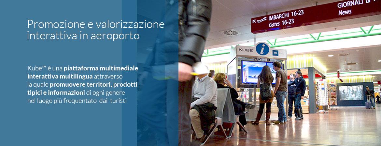 Promozione e valorizzazione interattiva in aeroporto