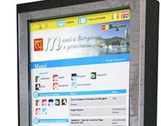 Digital signage per i musei</BR>della Provincia di Bergamo