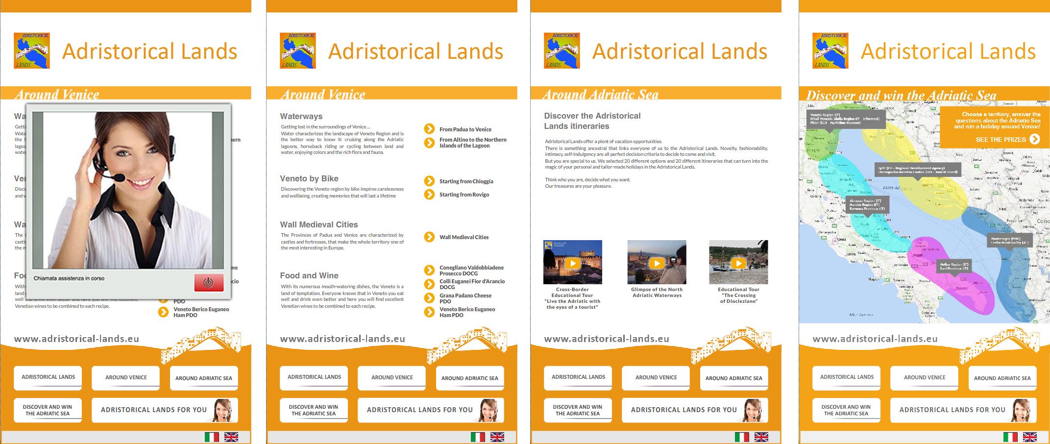 video contact center per adristorical lands