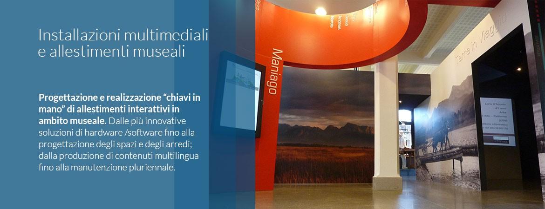 Installazioni multimediali e allestimenti museali